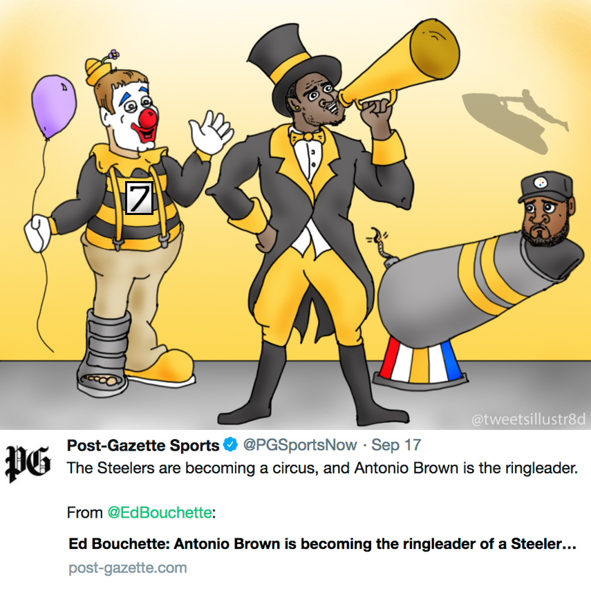 Tweets Illustrated - The Pittsburgh Steelers Circus
