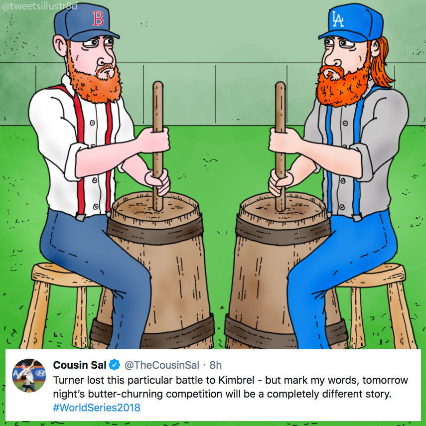 Tweets Illustrated - The World Series of Butter-Churning - Kimbrel vs. Turner