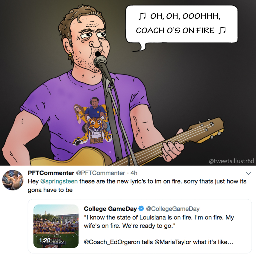 Tweet's Illustrated - Coach O's on Fire