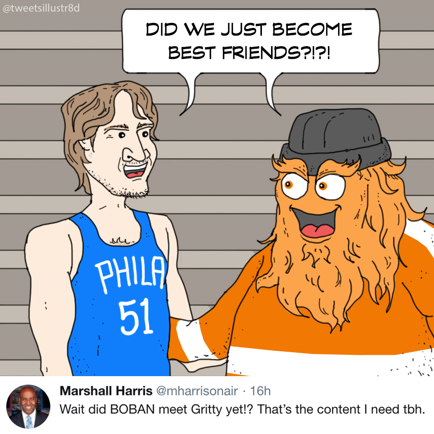 Tweets Illustrated - Boban Meets Gritty