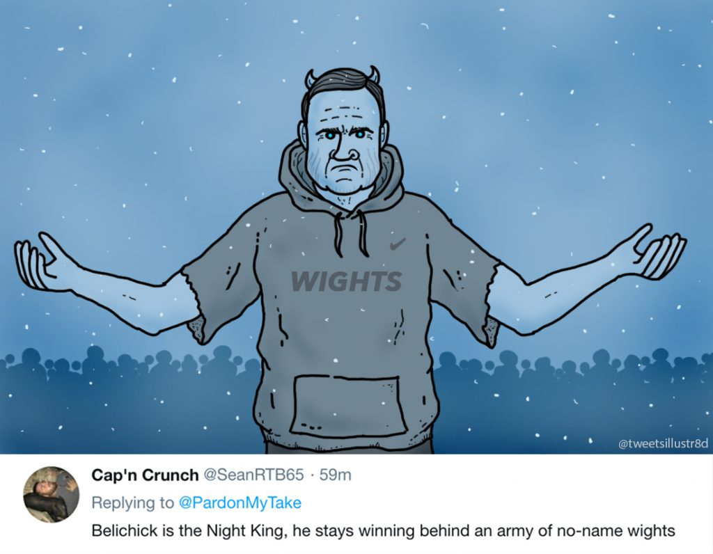 Tweets Illustrated - Belichick is the Night King